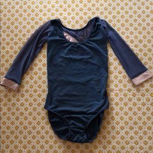 Five Dance Wear Gray & Nude 3/4 Sleeve Leo Size MA